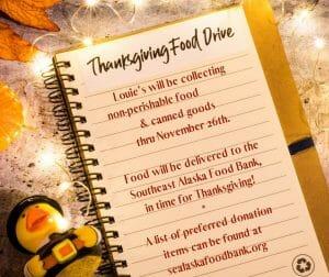 Thanksgiving Food Drive @ Louie's Douglas Inn
